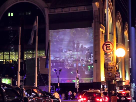 Gotham Ambient Ad -  Interactive mapping