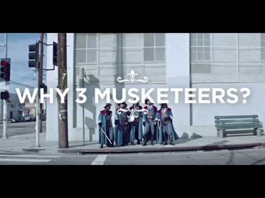 Three Musketeers Film Ad -  Taxi