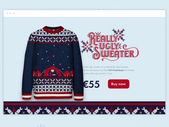 SOS Children's Villages Belgium Ambient Ad - Really Ugly Sweater