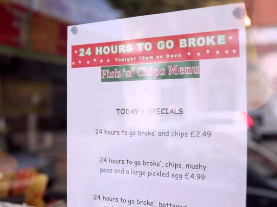 24 Hours to Go Broke Digital Ad -  How to rebrand a chippy