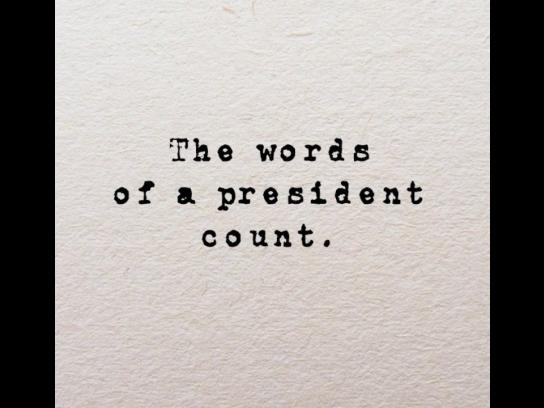JFK Library Film Ad - Words Count