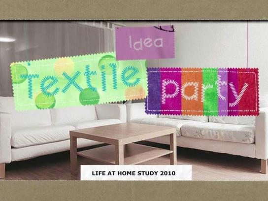 IKEA Ambient Ad -  Textile party