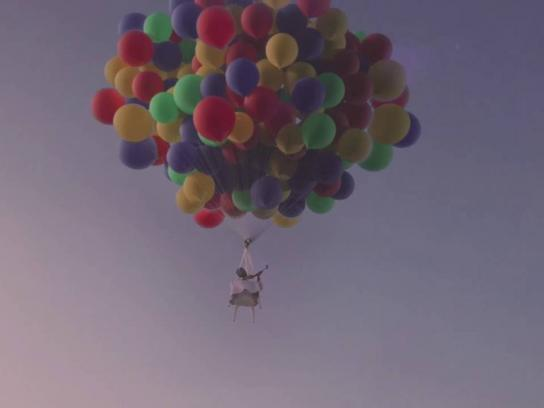Emaar Film Ad - Soon this view can be yours - Balloon chair