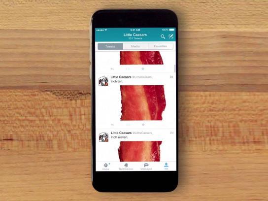 Little Caesars Digital Ad -  Bacon timeline