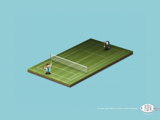 MedicAlert Print Ad -  Tennis