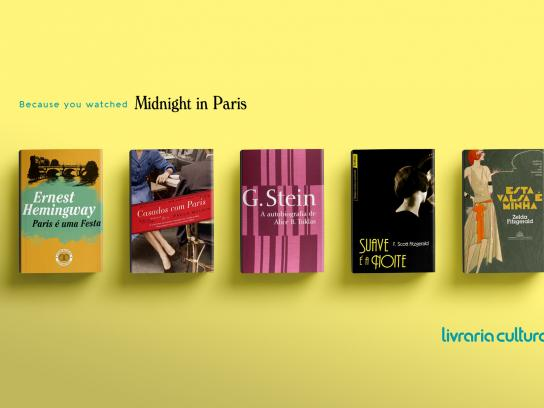 Livraria Cultura Print Ad - Midnight in Paris