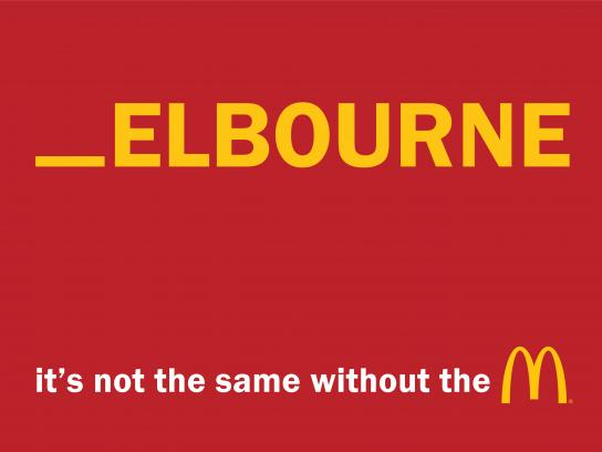 McDonald's Outdoor Ad - It's not the same without the M