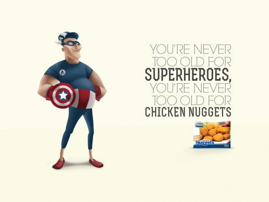 Melo Print Ad -  Captain America