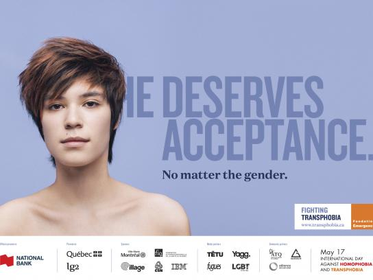 Fondation Emergence Print Ad - No Matter the Gender, 2