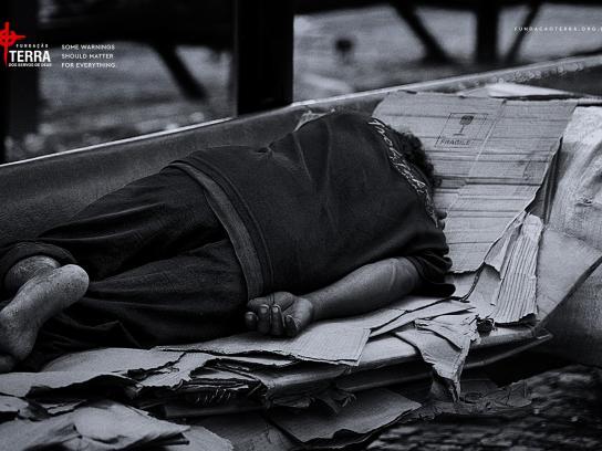 Fundação Terra Print Ad - Homeless, 1