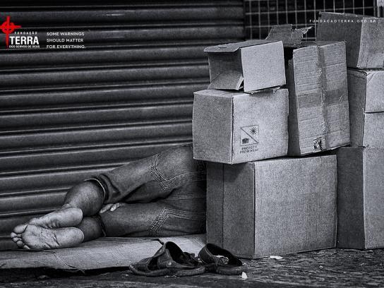 Fundação Terra Print Ad - Homeless, 2