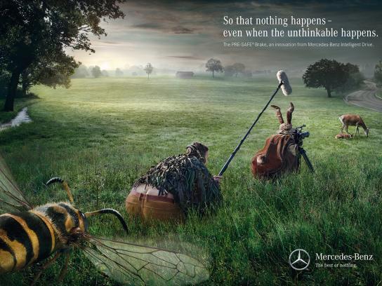 Mercedes Print Ad -  Wasp