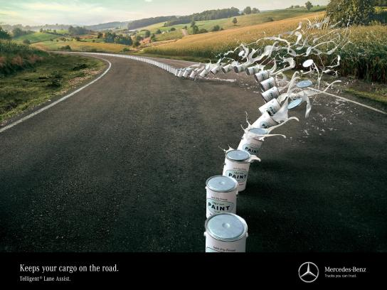 Mercedes Print Ad - Disaster averted, 1