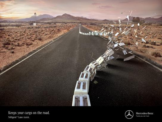 Mercedes Print Ad - Disaster averted, 2