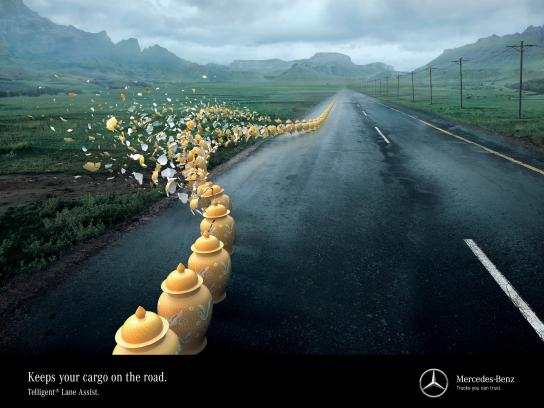 Mercedes Print Ad - Disaster averted, 3