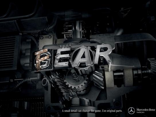 Mercedes Print Ad -  Gear