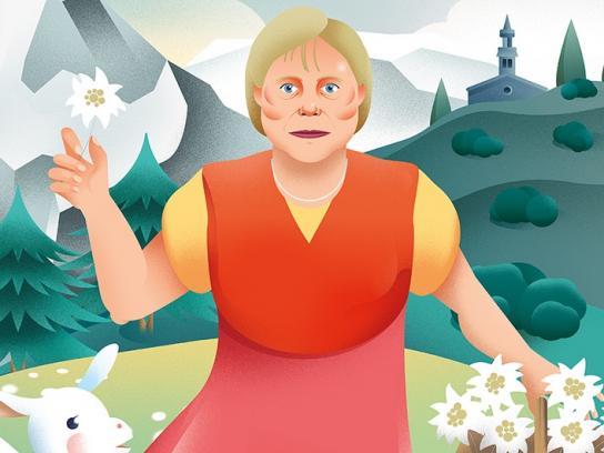 Jornal i Print Ad - Merkel