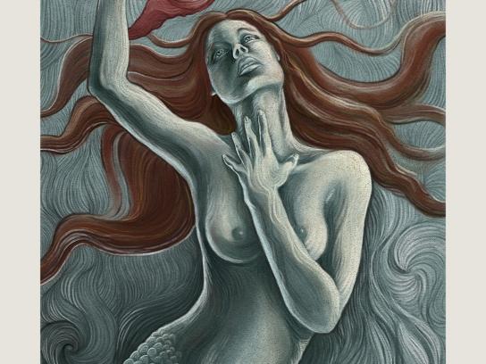 Nonsanta Lingerie Print Ad -  Mermaid