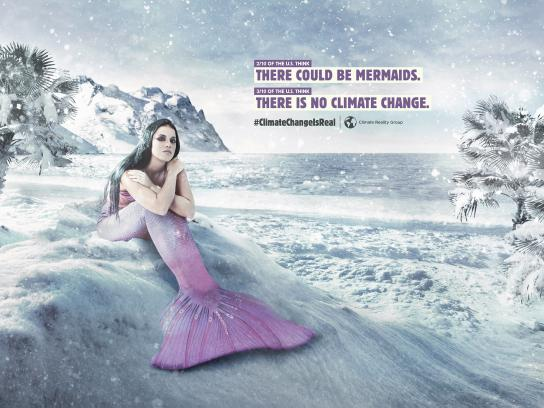 Climate Reality Group Print Ad - Santa