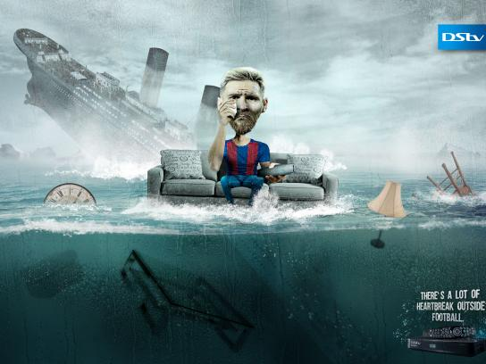 DStv Print Ad - Messi Heartbreak