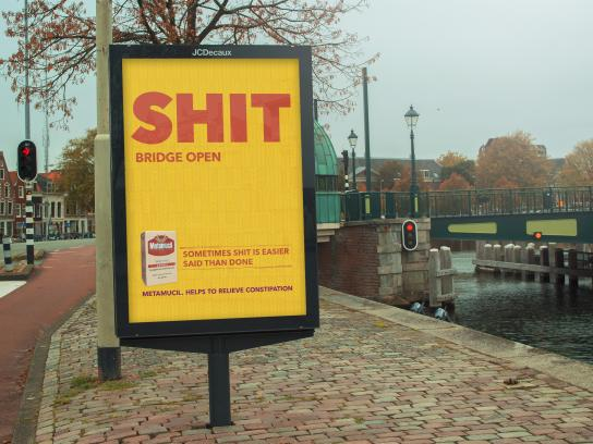 Metamucil Outdoor Ad - Shit! - Bridge