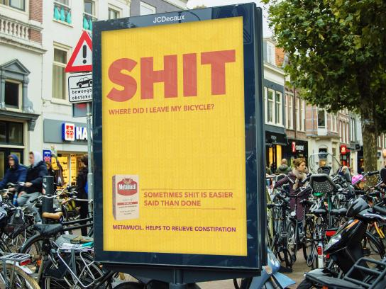 Metamucil Outdoor Ad - Shit! - Bicycle