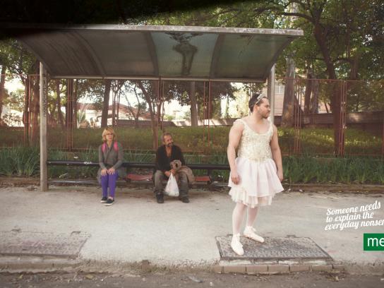 Metro Print Ad -  Ballerina