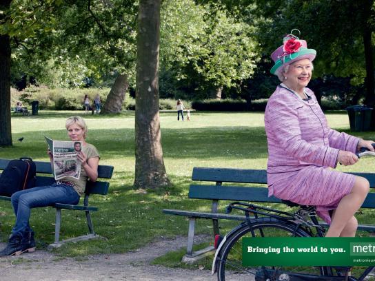 Metro Print Ad -  Queen Elizabeth