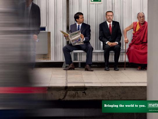 Metro Print Ad -  Erdogan - Dalai Lama
