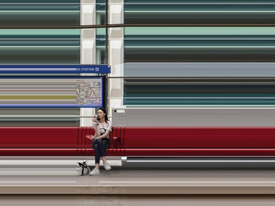 Kit Kat Print Ad - Break the Speed, Metro station