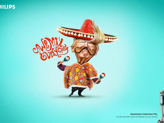 Philips Print Ad - Mexico and Trump