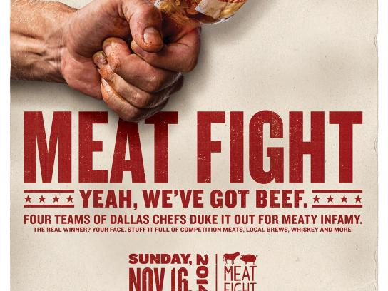 Meat Fight Outdoor Ad -  Sauce