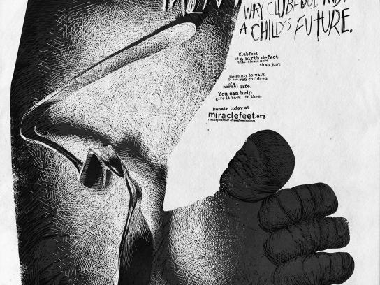 MiracleFeet Print Ad - Twisted Future - Malnourishment