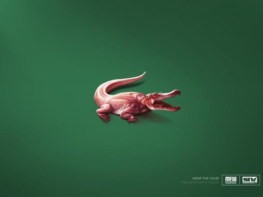 MFW Print Ad -  Skinless logos - crocodile