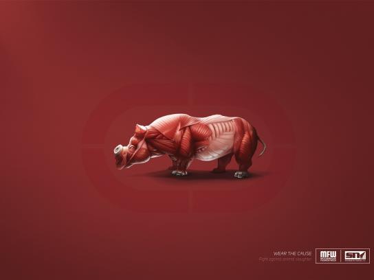 MFW Print Ad -  Skinless logos - rhino