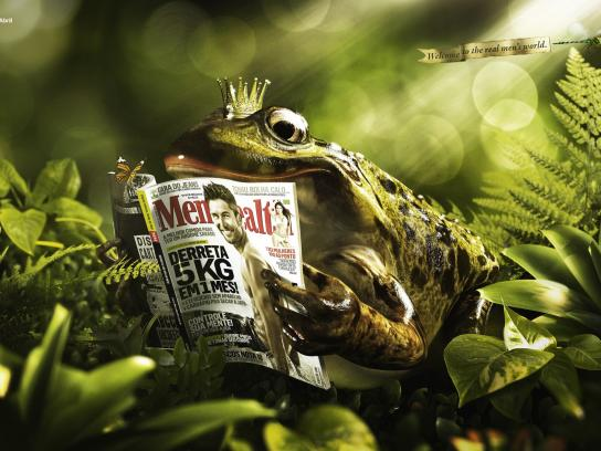 Men's Health Print Ad -  Real Men's world, Frog Prince
