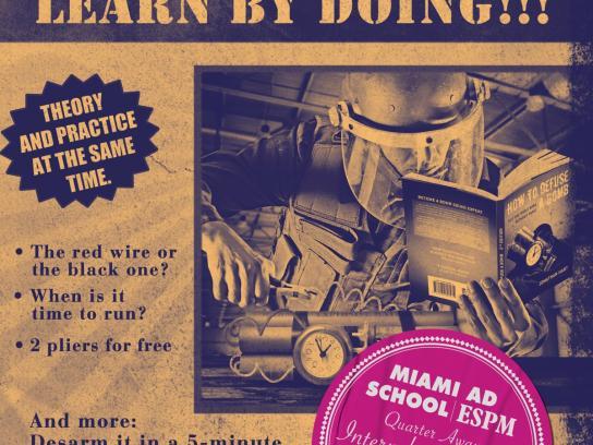Miami Ad School Print Ad -  Bomb