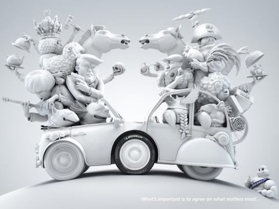 Michelin Print Ad -  France - Great Britain