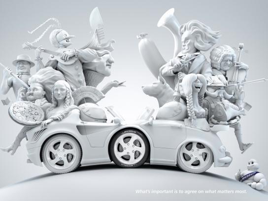 Michelin Print Ad -  Italy - Germany