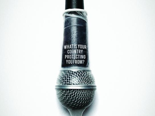 World press freedom day Print Ad - Microphone