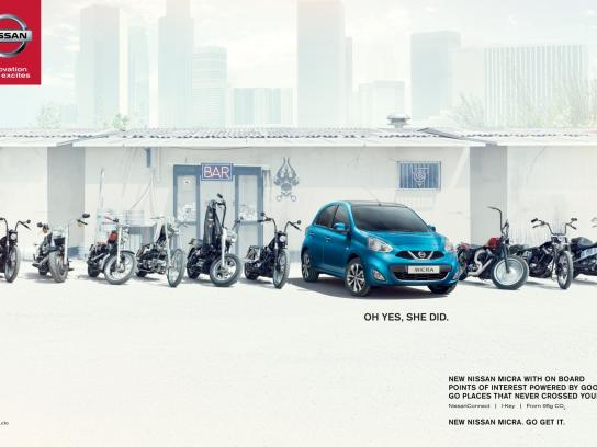 Nissan Outdoor Ad -  Bikers