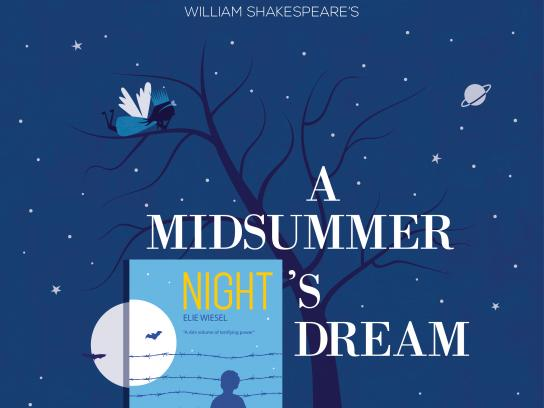OM Book Shop Print Ad - A Midsummer Night's Dream