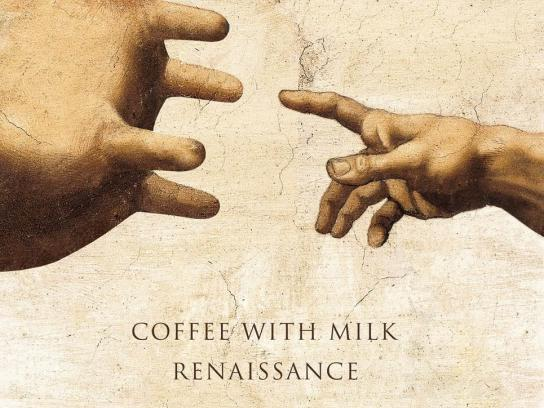 Sviezia Kava Print Ad -  Coffee with milk renaissance