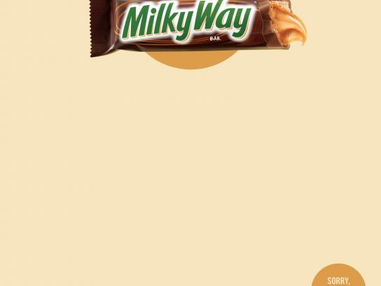 Milky Way Print Ad -  Sorry, I was eating a Milky Way, 3