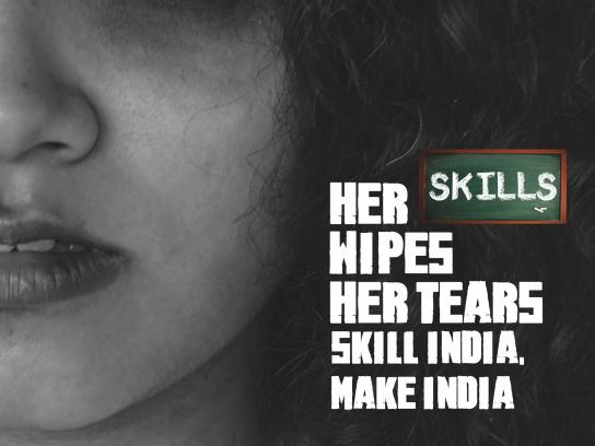 Skill India Print Ad - Her Skills Wipes Her Tears, 3
