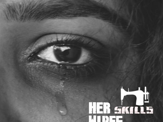 Skill India Print Ad - Her Skills Wipes Her Tears