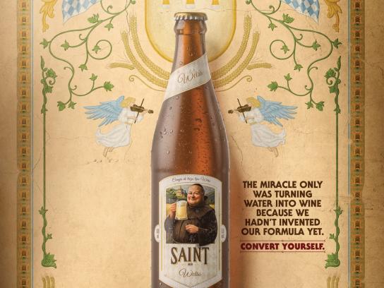 Saint Bier Print Ad - Miracle