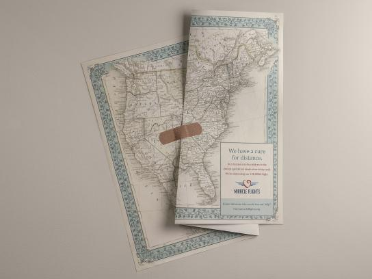Miracle Flights Print Ad - Healed maps, 2