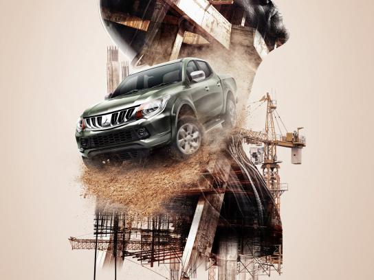 Mitsubishi Print Ad - Construction