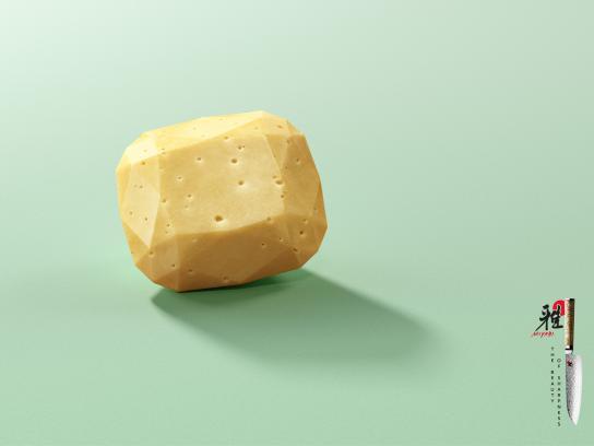 Miyabi Print Ad - The Beauty Of Sharpness 2018 - Cheese